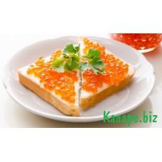 Бутерброд с красной икрой