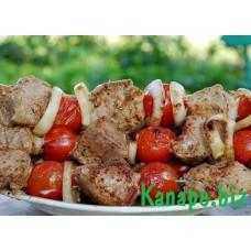 Шашлык из телятины с помидороми