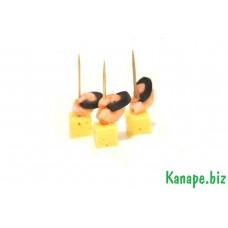 К№42-Канапе с креветкой и сыром