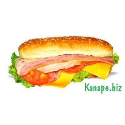 Бутерброд с сыром и беконом
