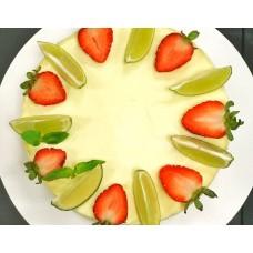 Десерт Чиз с лаймом и клубникой