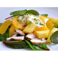 Салат с мандаринами и ананасом